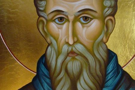 Савва Освященный (фрагмент иконы)