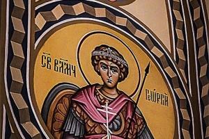 Св. Великомученик Георгий Победоносец. Иконописная мастерская Палехский Образ