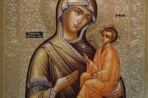 Образ Тихвинской Богородицы