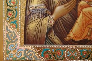Образ Тихвинской Богородицы (фрагмент)