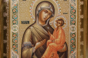 Образ Тихвинской Богородицы (в раме)