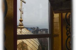 Вид из окна храма в Дагомысе