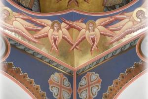 Роспись парусов храма в Дагомысе