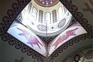 Херувимы (в барабане купола). Иконописная мастерская Палехский Образ