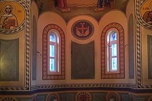 Орнамент по низу стен. Иконописная мастерская Палехский Образ