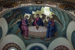 Фреска Св. Троицы (мастер Семен Небогатов)